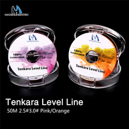 2019 nivel de linea de peces Aximumcatch Level 50M 2.5 # / 3.0 # Fluorocarbon Pink / Orange Fly Fishing Line Maximumcatch Tenkara Level Line 50M 2.5 # / 3.0 # Fluorocarbon P ... nivel de linea de peces baratos