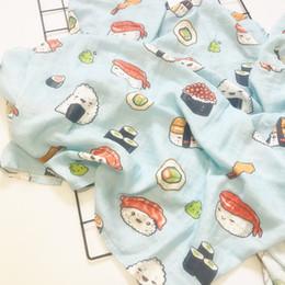 2019 grandes mantas de bebé Imprimir Recién nacido 47 x 47 pulgadas Baby Muslin Swaddle Mantas Baby Swaddle Mantas algodón de algodón infantil toalla toalla envolver gran pañal grandes mantas de bebé baratos