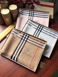 2019 homens elegantes e mulheres lenços de alta qualidade corda de lã tingida de fios lenço clássico cachecol de caxemira 180 * 70 de