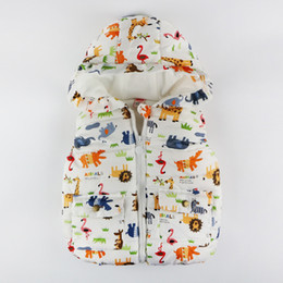 giacche per bambini piccoli Sconti Vest Toddler bambini per ragazzi ragazze Autunno Inverno Animali caldo Giacca con cappuccio Zipper fumetto Gilet per bambini Bambini vestiti 1-4Y