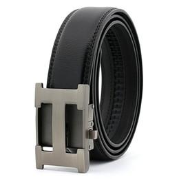 Herren Ledergürtel Slide Ratschengürtel für Männer mit automatischer Schnalle 1 3/8 Designer großer und hoher Gürtel Größe 28-54 Kleid Ceinture von Fabrikanten