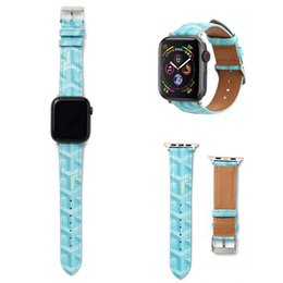 iphone bands Coupons - new Fashion Strap 40MM 44MM Luxury Leather Watchbands for Apple Watch Band 42mm 38mm iwatch 2 3 4 bands Leather Strap Sports Bracelet