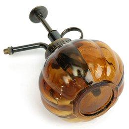 Ремесла маленькие стеклянные бутылки онлайн-полива стекла горшок полива цветок античный пластик стекло бронзовый стиль растения душ ремесел банки консервная банка маленькие старинные сочные садовые инструменты