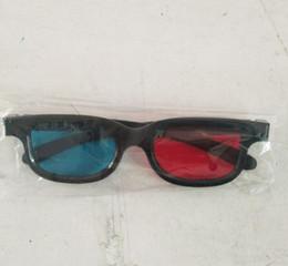 Ücretsiz Gemi 50 pairs 3D Gözlük Evrensel Siyah Çerçeve Kırmızı Mavi Anaglyph 3D Gözlük Film Oyunu DVD Video TV Için supplier framing video nereden çerçeveleme videosu tedarikçiler