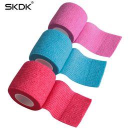 Pulso elástico on-line-2.5CM / 5CM / 10CM Envoltório Autoadesivo Coesivo Bandage Forte Elastic Sports Tape Para Stretch Wrist Athletic Tape para entorses de Tornozelo Inchaço T