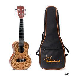 Guitarra havaiana on-line-24 polegadas 18 Frets Spruce Soprano Ukulele 4 cordas guitarra havaiana para iniciantes