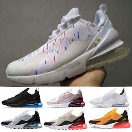 Großhandel Nike Air Max 270 Laufschuhe Der Marke Free Run Womens Herren Turnschuhe Dreibettzimmer Weiß Schwarz Bruce Lee Orange Atembaum GYM JOGGING