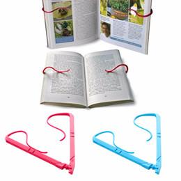 Suportes para livros dobráveis on-line-1pc Books suporte mãos portáteis Livro Livre Stand Holder Folding Mantém braçadeira Pages Open Clip fixo