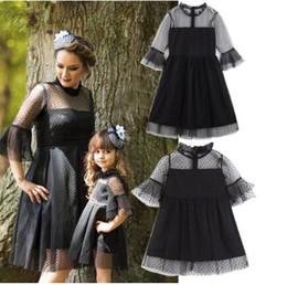 2019 família, vestido, alikes, mãe, filha Mamãe e Me Família Roupas Combinando Vestido de Renda Preta Meninas Mulheres Vestidos Boutique Roupas Infantis Pai Criança Outfits