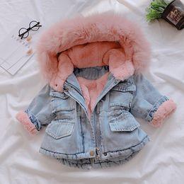 estilo do exército da forma dos miúdos Desconto bebê crianças roupas roupas da moda casaco de lã meninas / jaqueta com capuz / casaco de inverno crianças