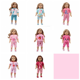 18 inch dolls for girls Coupons - 18 inch doll clothes new cloth pajamas autumn sleeping wear outfit for american girl our generation