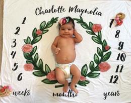 calendários dos desenhos animados Desconto Crianças Cobertores Impresso Swadding Cobertores Fotográficos New Born Baby Flor Fox Relógio Cartas Calendário Animal Dos Desenhos Animados Cactus 23