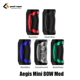 Sigelei sub ohm tank online-Auténtico Geekvape Aegis Mini 80W TC Box Mod 2200mAh Batería E-Cigarette Vape Mods para original Cerberus Sub-ohm Tank 100% genuino