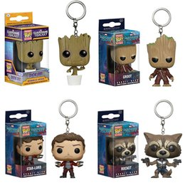 Cohete de cabeza online-Funko Pop Groot Modelo Toy Bobble Head Groot Star-Lord Cohete Drax Gamora Árbol Hombre Guardianes de la Galaxia Anime Vinyl Pocket Pop Toy