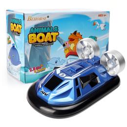 barcos elétricos para crianças Desconto Rádio Controle Remoto Barco RC Ready-to-Go Super Mini Barco Velocidade 2 Modelo Elétrico RC Anti-chateado Brinquedos para Crianças Brinquedos Infantis