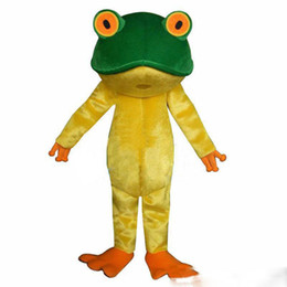 Costumi della mascotte della rana online-2019 vendita calda Rana New Professional Green Frog Adult Mascot Costume Fancy Dress