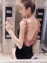 Vieeoease Donna Costumi da bagno Fiore Costumi da bagno One-pezzi 2019 Estate Moda coreana Costumi da bagno Backless Principessa GGO-022 da le donne coreane di estate rivestono fornitori