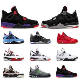 крутые новые баскетбольные туфли Скидка Новый воздухретроjordan 4s баскетбольные кроссовки для мужчин 4 Cool Grey Bred OREO черный резиновый огненно-красный спортивные спортивные кроссовки размер 7-13