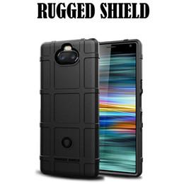 Argentina Funda de silicona Rugged Shield para Sony Xperia 10 Plus Funda Huawei P30 para Samsung Galaxy S10 Cubierta Anti Caída Suave cheap sony xperia covers Suministro