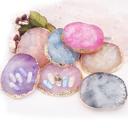 Каменный гель онлайн-Цветовая индикация геля палитра кристалл камень шаблон ногтей искусство польский практика доска натуральный лак маникюр ногтей DIY инструменты