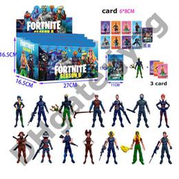Wholesale Fortnite Doll toys New kids cm Juego de dibujos animados Fortnite llama esqueleto papel Figura Juguete Incluyendo empaque minorista
