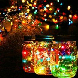 l'energia solare ha condotto le luci della stringa Sconti Vaso di mattoni ad energia solare Coperchio fai da te LED Fata String Lights Party Garden Decor Light per luci da giardino al coperto