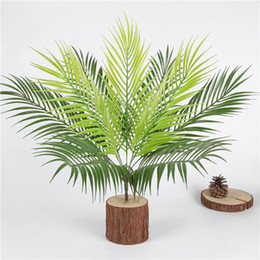 2020 foglie di ramo 9 Branch / Bouquet artificiale Boston seta Fern artificiale di plastica verdi piante finte foglie Craft Falso Fogliame Home Decoration foglie di ramo economici