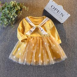 8a436aa00a91 le ragazze di autunno della molla di buona qualità si vestono le maniche  lunghe dell abito di modo del bambino del cotone del manicotto del costume  del ...