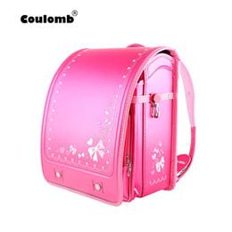 2019 студенческие сумки япония Coulomb Children School Bag For Girls Kid Orthopedic Backpack For School Students Bookbags Japan PU Randoseru Baby Bags New дешево студенческие сумки япония