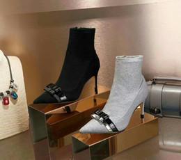 2019 botas de boda invierno femenino Sophia Webster Vestido de mujer Botines Zapatos Invierno Mujer Astilla Negro Moda Bling Botas de tacón alto Vestido de novia Bowtie Botines botas de boda invierno femenino baratos
