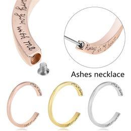 Gioielli di cenere online-2019 Memorial Urn Bangle Bracciale Vintage lega incisa braccialetto cremazione gioielli cenere per amico coppia Memen Sainio argento oro