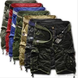 Pantalones de carga urbana online-3050 # 8 Tamaño del color 29-38 Hombres Militares Combat Camo Pantalones cortos de carga Pantalones Urban Casual Army Pantalones Bottoms