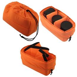2019 nuevo Orange Adjustable Camera Insert Bag Protect Package Case Partition Funda acolchada para DSLR SLR desde fabricantes