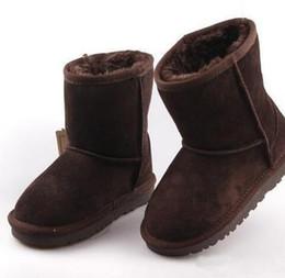 sapatas de bebê da vaca Desconto Venda quente sapatos de grife Meninos e Meninas Estilo Austrália Crianças Botas de Neve Do Bebê À Prova D 'Água Slip-on Crianças Botas de Couro de Vaca de Inverno Marca XMAS