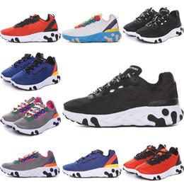 2020 entrenadores de lona para niños Nike Epic React Element 87 Undercover hombres plataforma mujeres zapatos de lona para hombre entrenadores atléticos zapatillas casuales blancas UNDERCOVER React Element 87 28-35 entrenadores de lona para niños baratos
