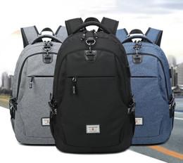 Zaino per laptop da uomo di moda per donna che ricarica tramite la borsa da scuola zaino USB per viaggiare ALD8085 da
