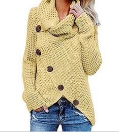2019 strick-bluse Frauen gestrickte Pullover Langarm O Hals Solide Mädchen Pullover Tops Bluse Shirt Pullover Winter Damenbekleidung günstig strick-bluse