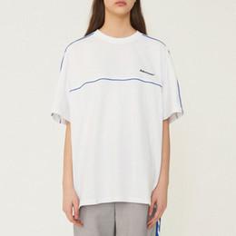 chemises en jersey de coton Promotion Erreur Ader T-shirt oversize noir blanc à manches courtes Logo T-shirt en jersey de coton brodé pour hommes Vêtements de sport Adererror Tops CLI0317