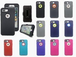 2019 samsung galaxy e5 telefon fällen Hybrid-Roboter 3-in-1 Heavy Duty Stoß- Defender Case für iPhone 11 Pro XR XS / X Max 7 8 Plus mit Holster Kostenloser Versand