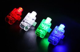 Luz de la lámpara del dedo online-Luces mágicas para los dedos, luces láser para los dedos, luces para los anillos con los dedos, luces LED para navidad, lámpara de juguete, juego de rave al aire libre, juguetes luminosos