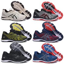 2019 nuevas zapatillas asics zapatos asics gel GEL-Nimbus 20 corredores zapatos para hombre zapatillas negro blanco azul rojo zapatillas deportivas de diseño transpirable al aire libre tamaño 40.5-45 nuevas zapatillas asics baratos