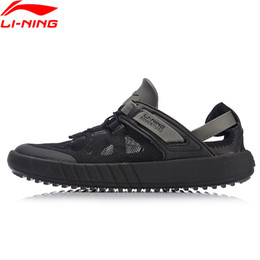 li ning sneakers Promo Codes - Li-Ning Men WATER 2018 Outdoor Aqua Shoes Breathable Wearable Beach LiNing Light Weight Water Sandals Sneakers AHLN001 XYD123