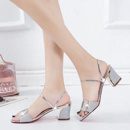 Magical2019 Second Posimi Donna Summer In Rome Grossa con due fibbie per abiti portare scarpe col tacco alto sandali da scolaretta da