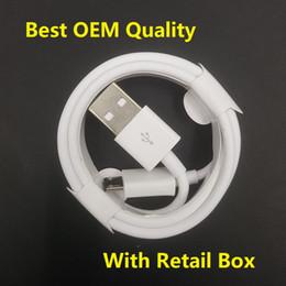 Canada Câble de chargeur micro USB Qualité OEM 1M 3FT 2M 6FT Données V8 Cordon Type C Cordon avec la boîte de vente au détail originale pour Samsung S7 S8 S9 Note 9 Huawei P 8 7 Offre