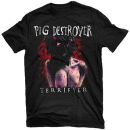 0d7bc5c44dc PIG DESTROYER Terrifyer (Black) T-Shirt NEW! Relapse Records TS2879 Funny  free shipping Unisex Casual Tshirt top