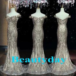 Canada Real Image Evening Wear Dresse 2019 Modest Africain Arabie Saoudite paillettes Dentelle Pour Femmes Robe De Bal Robes Celebrity Robe De Soirée Offre