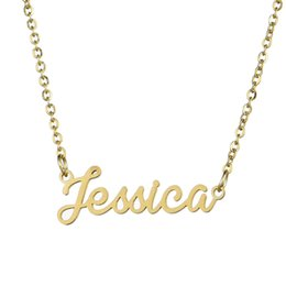 new diy products Coupons - Emma Jessica DIY A New Product of 2019 Personalized Pendant Necklace Gift with English Name of Titanium Steel