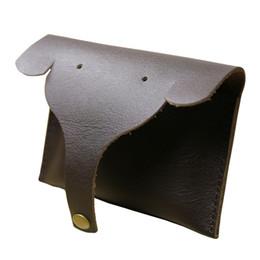 design de cartões artesanais Desconto Novo Design Mulheres Couro Genuíno Bonito Handmade Elephant Coin Purse Card Package