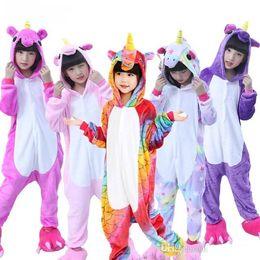 2020 kinder flanell pyjamas Kinder Pyjamas Kigurumi für Jungen Mädchen Unicorn Pyjamas Flanell Kinder Pyjamas Set Animal Kids Nachtwäsche Winter-Pyjama set1-9T günstig kinder flanell pyjamas