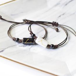 12 Constellation Zodiac Signe noir tressé en cuir bracelet cancer leo virgo